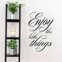 Enjoy the Little Things Wall Decal 22.5-inches wide x 36-inches tall
