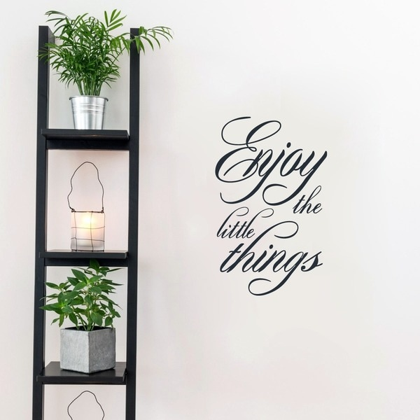 Enjoy the Little Things Wall Decal 15-inches wide x 24-inches tall. Opens flyout.