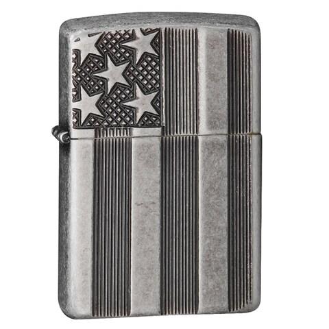 Zippo Classic US Flag Deep Carve Lighter