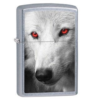 Zippo Classic Wolf with Red Eyes Lighter