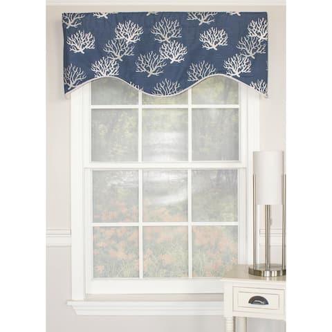 "RLF Home Sea Coral Cornice 50"" Window Valance"