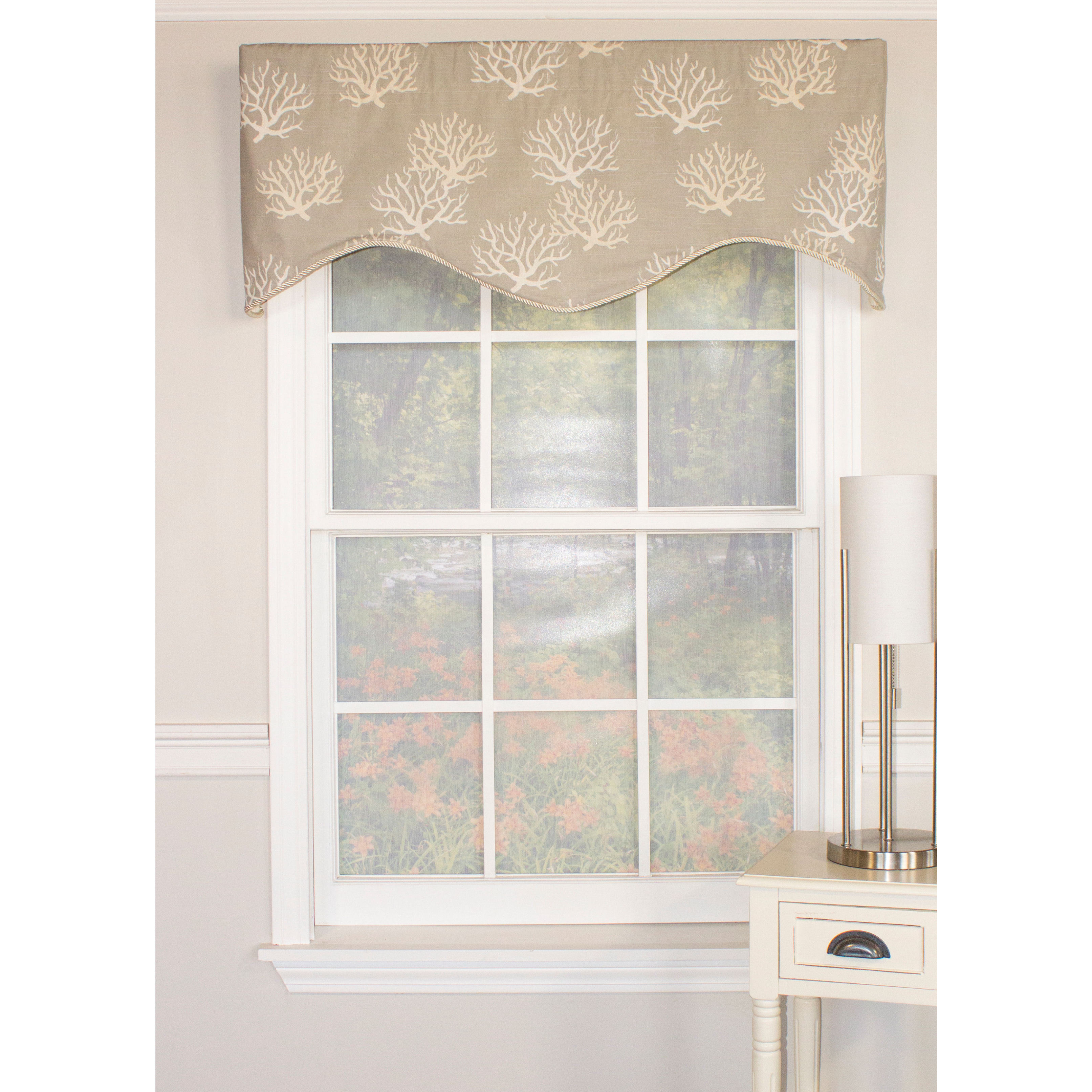 trim faux home juline garden free embellished product overstock tassel silk solid lined waterfall on valance over valances orders shipping park madison