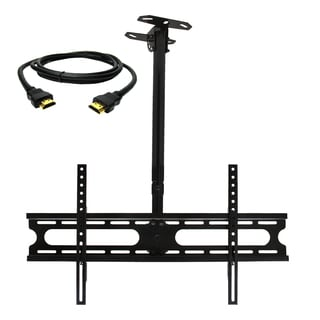 MegaMounts Tilt and Swivel Ceiling Mount for 37-70-inch Displays with HDMI Cable