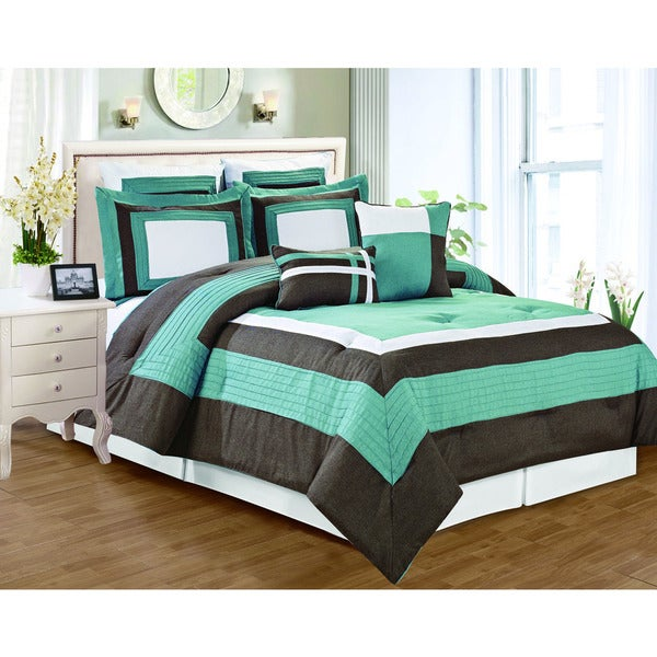 Landon Chambray 8-piece Comforter Set