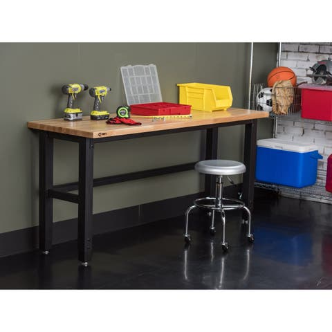TRINITY 19-inch Adjustable Woodtop Work Table