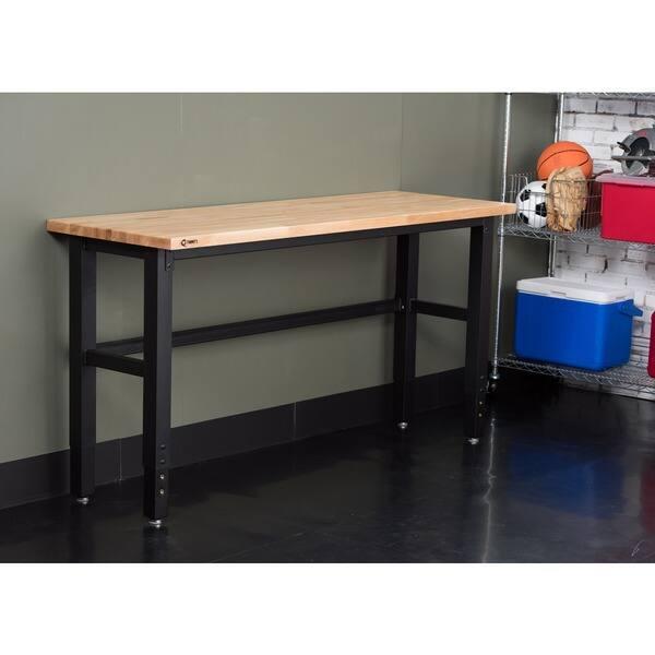 Admirable Shop Trinity 19 Inch Adjustable Woodtop Work Table Free Uwap Interior Chair Design Uwaporg