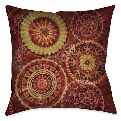 Laural Home Ruby Wheels Decorative 18-inch Throw Pillow
