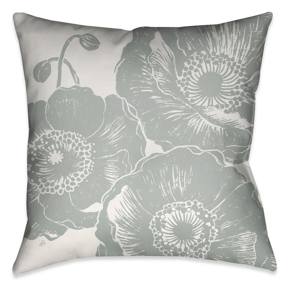 Shop Laural Home Poppies I Decorative 18-inch Throw Pillow - 10706815