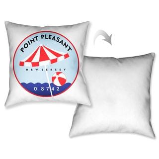 Laural Home Point Pleasant Beach II Decorative 18-inch Throw Pillow