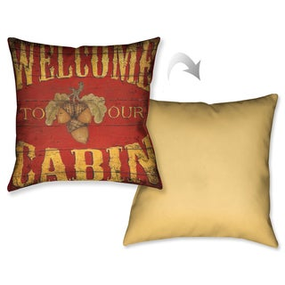 Laural Home Welcome to the Lodge Decorative 18-inch Throw Pillow