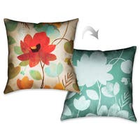 Laural Home Vibrant Flowers Decorative 18-inch Throw Pillow