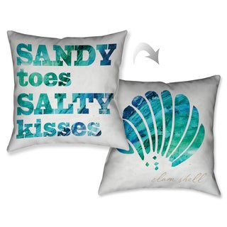 Laural Home Seaside Dreams Decorative 18-inch Throw Pillow