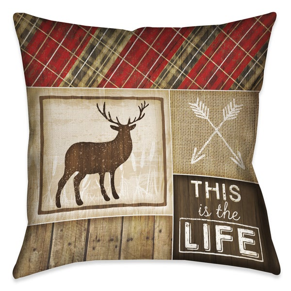 Laural Home Rustic Cabin IV Decorative 18-inch Throw Pillow
