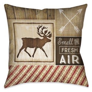 Laural Home Rustic Cabin I Decorative 18-inch Throw Pillow