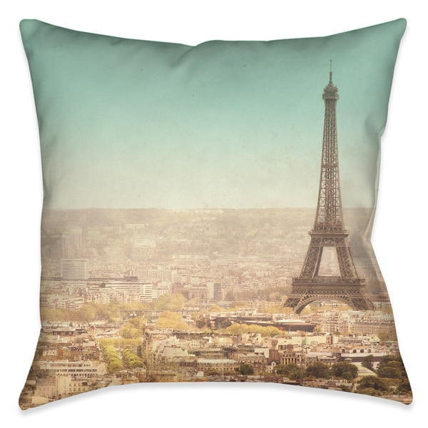 Laural Home Parsian Landscape Decorative 18-inch Throw Pillow