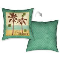 Laural Home Palm Retreat II Decorative 18-inch Throw Pillow