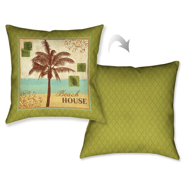 Laural Home Palm Retreat I Decorative 18-inch Throw Pillow