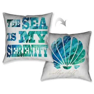Laural Home Ocean Serenity Decorative 18-inch Throw Pillow