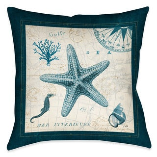 Laural Home Ocean Life Starfish Decorative 18-inch Throw Pillow