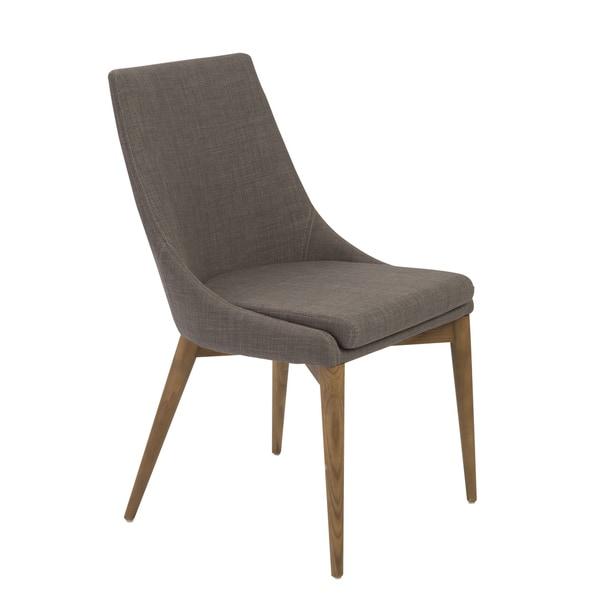 Calais Dark Grey/ Walnut Dining Chairs (Set Of 2)