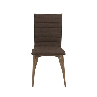 Yoland Brown/ Walnut Dining Chairs (Set of 2)