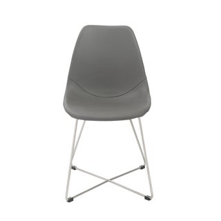 Anahita Grey/ Brushed Stainless Steel Side Chairs (Set of 4)