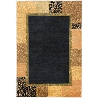 ecarpetgallery Finest Ziegler Chobi Beige Blue Wool Rug (6' x 9')