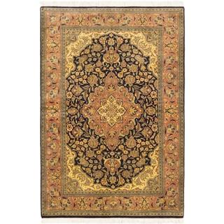 ecarpetgallery Pako Persian 18/20 Blue Brown Wool Rug (4' x 5')