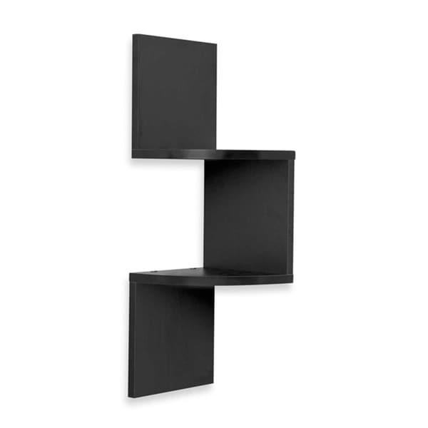 Two Level Side Corner Wall Mount Zig Zag Shelf Free