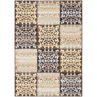 ecarpetgallery Crown Brown Yellow Rug (3' x 5')