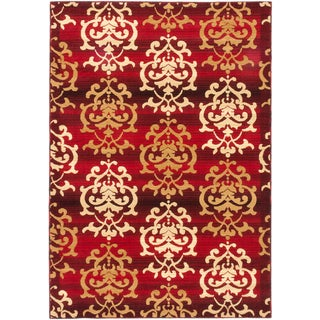 ecarpetgallery Crown Red Rug (3' x 5')
