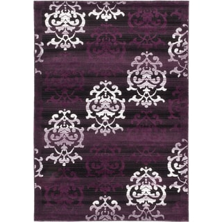 ecarpetgallery Crown Black Purple Rug (3' x 5')