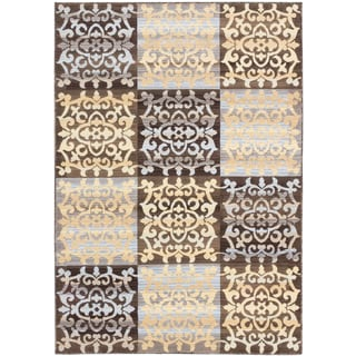 ecarpetgallery Crown Brown Yellow Rug (5' x 7')