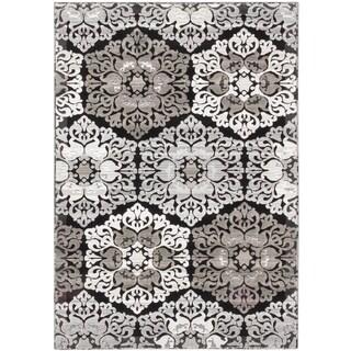 ecarpetgallery Crown Black Grey Rug (3' x 5')