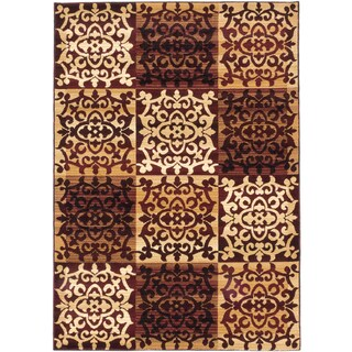 ecarpetgallery Crown Beige Red Rug - 5' x 7'