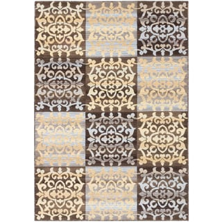 ecarpetgallery Crown Brown Yellow Rug (6' x 9')