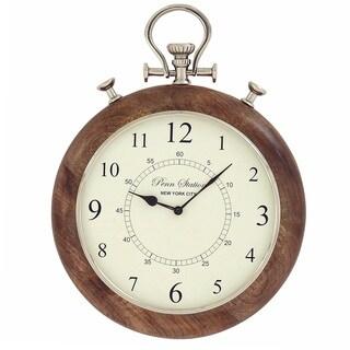 Casa Cortes Brentwood 15-inch Metal Pocket Watch Wall Clock