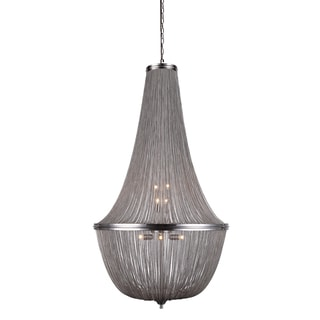 Elegant Lighting Paloma Collection 1210 Pendant Lamp with Pewter Finish