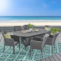 Corsica Outdoor 7-piece Wicker Dining Set by Christopher Knight Home
