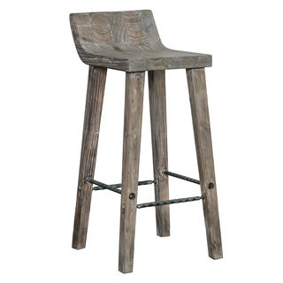 tam rustic brown wood 24inch counter stool by kosas home