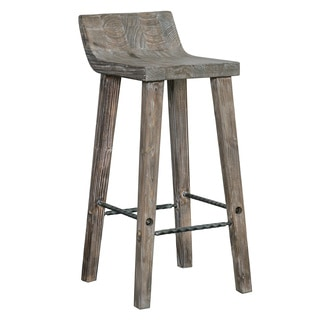 Tam Rustic Wood 24-inch Counter Stool by Kosas Home