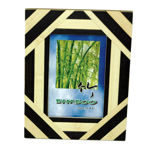 Handmade Two-Tone Bamboo Frame (Vietnam). Opens flyout.