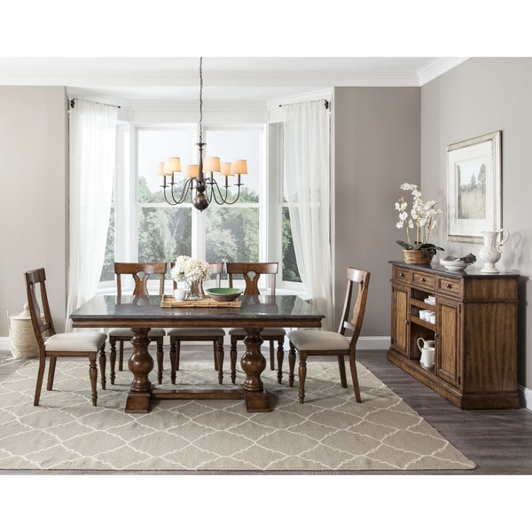 janes gallerie luciano bluestone 5 piece dining set - free