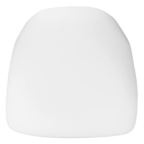 Hard White Fabric Chiavari Chair Cushion - Party and Dining Chair Accessories