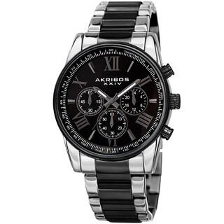 Akribos XXIV Men's Multifunction Tachymeter Stainless Steel Two-Tone Bracelet Watch