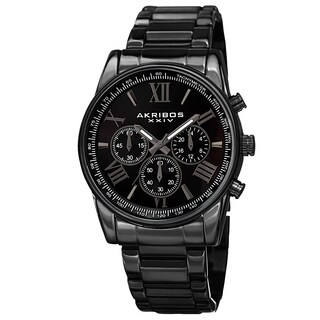 Akribos XXIV Men's Multifunction Tachymeter Stainless Steel Bracelet Watch (5 options available)