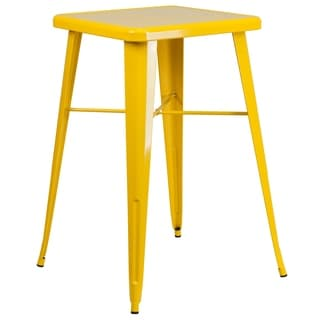 Square Metal Bar Height Table