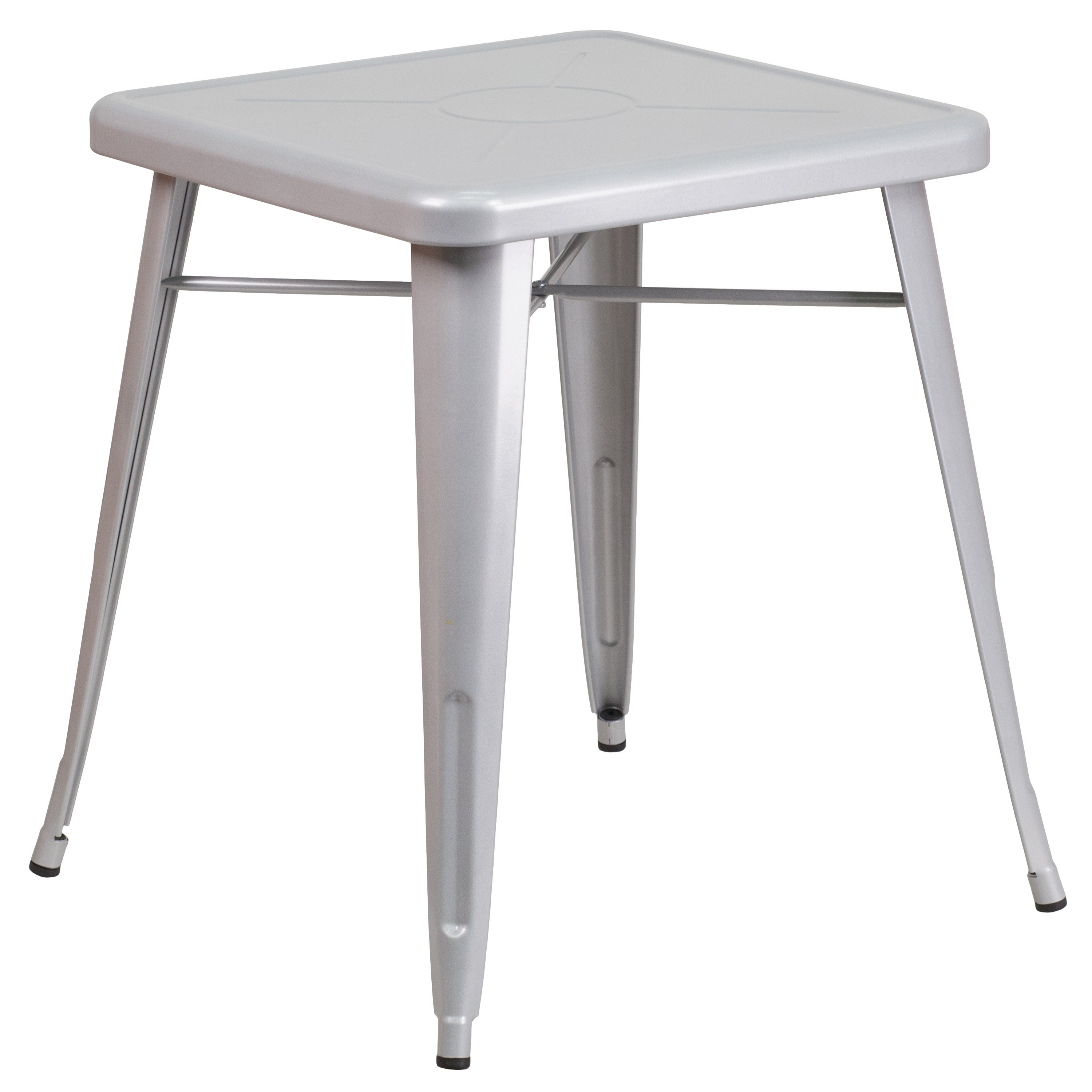 Square Metal Table (Silver)