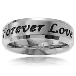 Territory Stainless Steel 'Forever Love' Brushed Band (6 mm)|https://ak1.ostkcdn.com/images/products/10707524/P17766932.jpg?impolicy=medium