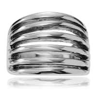 Territory Stainless Steel Slit Tapered Band Ring